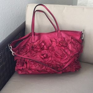 Valentino hot pink magenta flower tote RARE